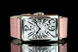 LADIES FRANCK MULLER LONG ISLAND RELIEF 18K WHITE GOLD