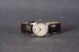 GENTLEMENS ROLEX OYSTER SPEEDKING PRECISION WRISTWATCH REF. 6506 CIRCA 1950-60, circular cream