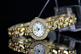 LADIES ROLEX CELLINI 18CT GOLD DIAMOND SET WRISTWATCH REF. 2435