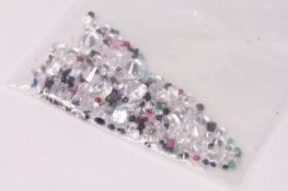 Parcel of Loose Mixed Stones, including cubic zirconia, ruby, sapphire, emerald and amethyst,