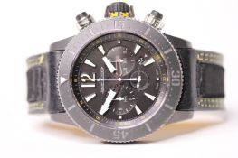 GENTLEMENS JAEGER LECOULTRE DIVING CHRONOGRAPH GMT NAVY SEALS WRISTWATCH REF 159.T.C7 W/BOX &