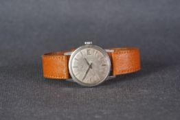 GENTLEMENS OMEGA SEAMASTER DATE WRISTWATCH, circular patina dial with silver applied hour markers