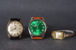 GROUP OF ROAMER WRISTWATCH, two gentlemen's roamer wristwatches including a vanguard, one ladies