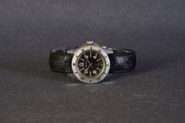 LADIES ELIX DIVERS WRISTWATCH, circular black dial with patina lume arabic numeral hour markers