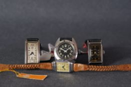 GROUP OF VINTAGE WRISTWATCHES INCL OMEGA HERMA, all watches are powered by manually wound movements,