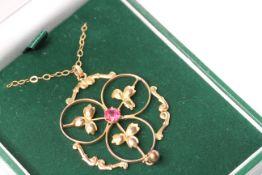 Victorian/Edwardian Pendant, gold
