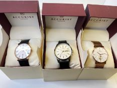 3 X ACCURIST WATCHES, NEW OLD STOCK