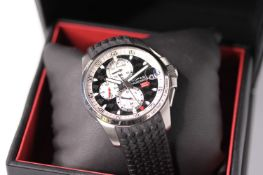 GENTLEMENS CHOPARD MILLE MIGLIA GT XL WRISTWATCH REF 8459 W/BOX & PAPERS, circular black dial with