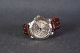 GENTLEMENS CARL F. BUCHERER TRIPLE CALENDAR AUTOMATIC WRISTWATCH W/ BOX & PAPERS REF. 00.10629.08.