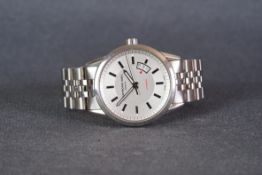 GENTLEMENS RAYMOND WEIL AUTOMATIC WRISTWATCH REF. 2730, circular silver two tone dial with silver