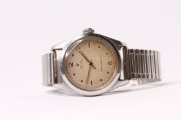 VINTAGE ROLEX OYSTER ROYAL REFERENCE 6142 CIRCA 1963, circular cream dial with patina, block and