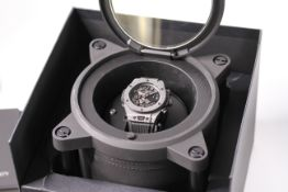 GENTLEMENS HUBLOT BIG BANG UNICO WRISTWATCH REF 411.YT.1110.NR.ITI15 W/ROTOR BOX, PAPERS &