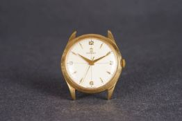 OVERSIZED 18CT OMEGA WRISTWATCH, circular quartered dial