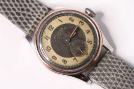 GENTLEMENS ETERNA AUTOMATIC BUMPER WRISTWATCH CIRCA 1940S