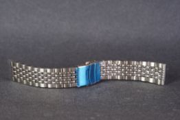 BRAND NEW STAINLESS STEEL BEADS OF RICE BRACELET W/ DEPLOYMENT CLASP, produced in stainless steel,