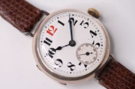SILVER TRENCH WATCH
