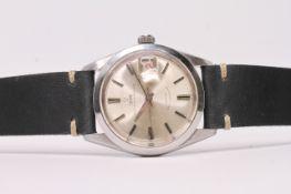 VINTAGE TUDOR OYSTER PRINCE DATE REFERENCE 7996 CIRCA 1966, circular silvered dial baton hour