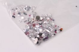 Parcel of Loose Mixed Stones, including cubic zirconia, amethyst, peridot, ruby, emerald,