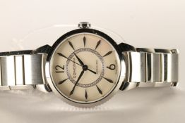 LADIES CONCORD IMPRESARIO WRISTWATCH, circular mother of pearl dial, diamond set inner ring,