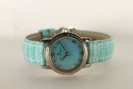 NOS LADIES BLANCPAIN LADYBIRD WRISTWATCH, circular blue mother of pearl dial with roman numerals,