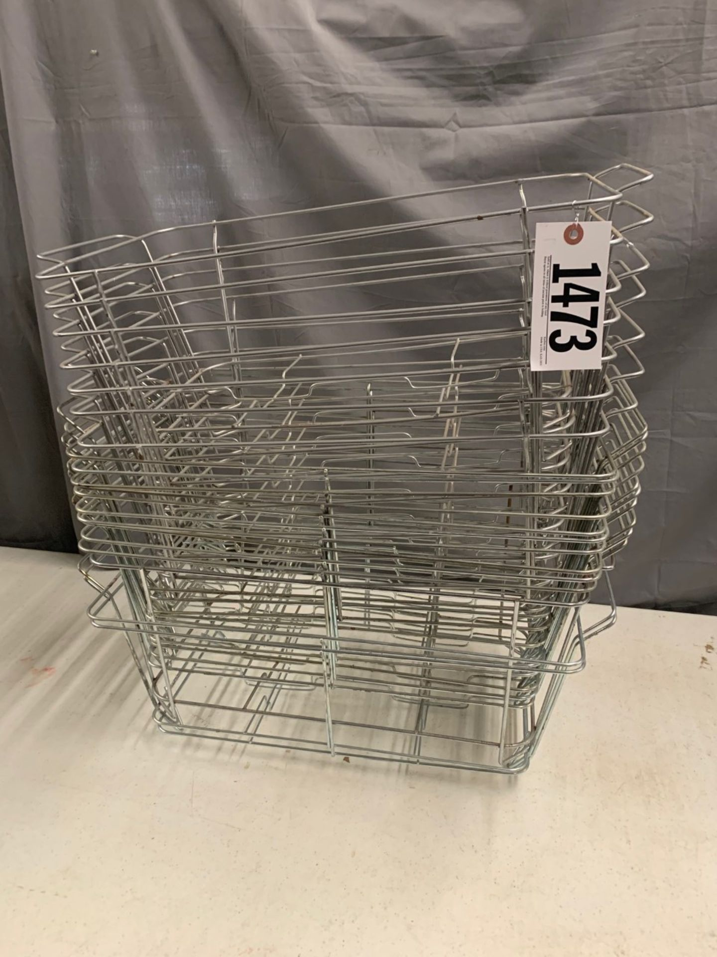 Lot 1473 - wire chafer baskets