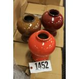 Vase Pottery VR272-06 mixed colors