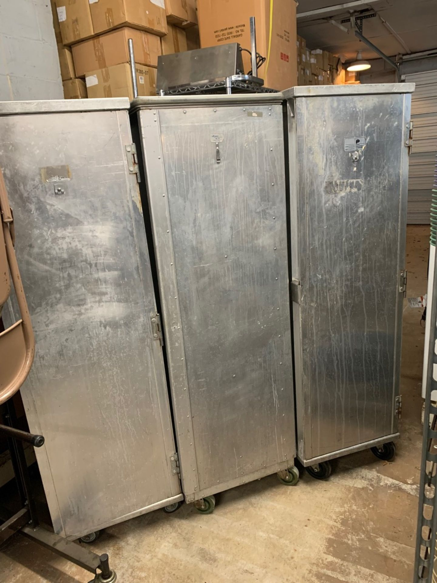 Lot 1456 - Aluminum Transport Cabinets (Not Heated)