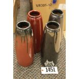 """Vase Pottery 12"""" Mixed colors VR301-12"""
