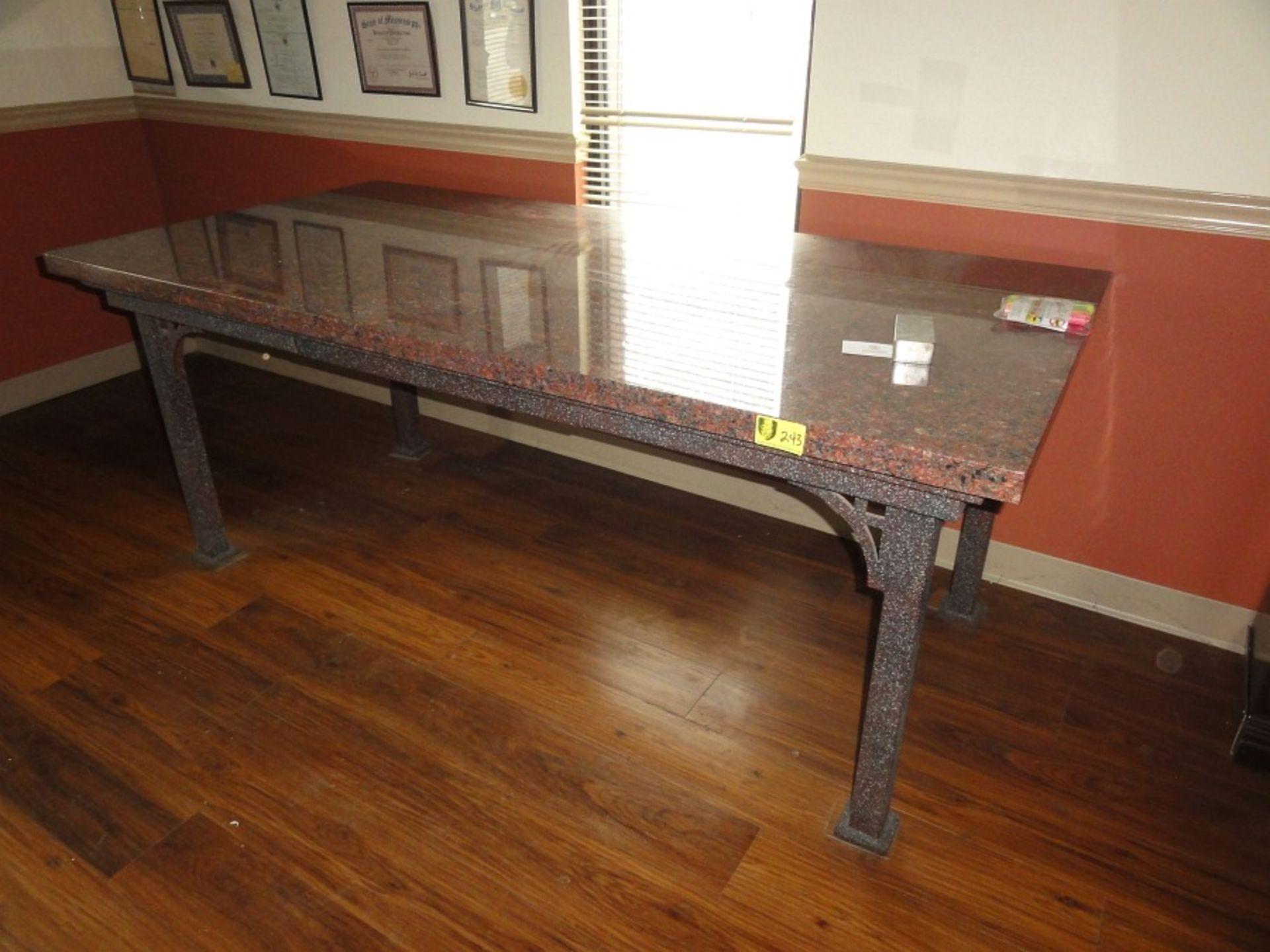 Lot 243 - Granite & Metal Table