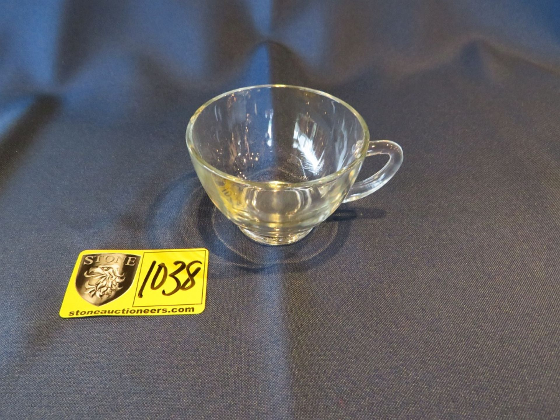 Lot 1038 - PUNCH CUP GLASS 6OZ.
