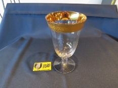 GOLD MAGNIFICENCE WATER GOBLET- IN 12 RACKS- BILLED AT $9 PER RACK
