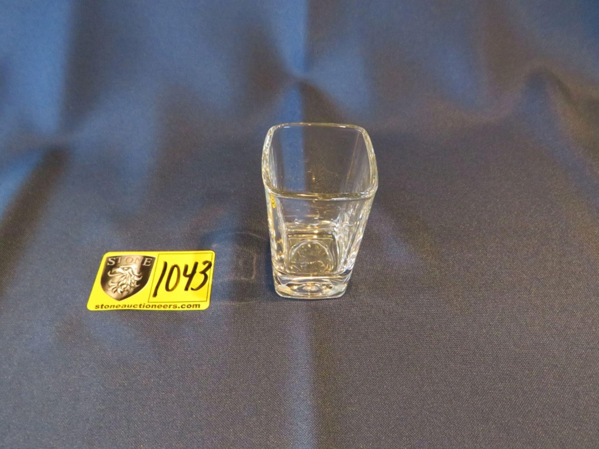 Lot 1043 - SHOT GLASS TALL SQUARE 2.75 OZ