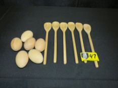 Wooden Spoon Set (6 eggs and 6 spoons)