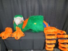 Mascot Style Parrot Costume - Patsy the Party Parrot Costumes