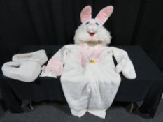 Mascot Style Bunny Costume - White Costumes