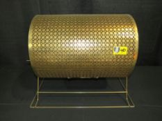 """Raffle Drum - Large, Gold 15"""" Diameter by 18"""" wide"""