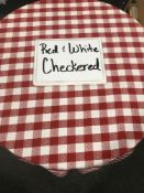 """Red & White Checkered Napkins 20"""" x 20"""""""