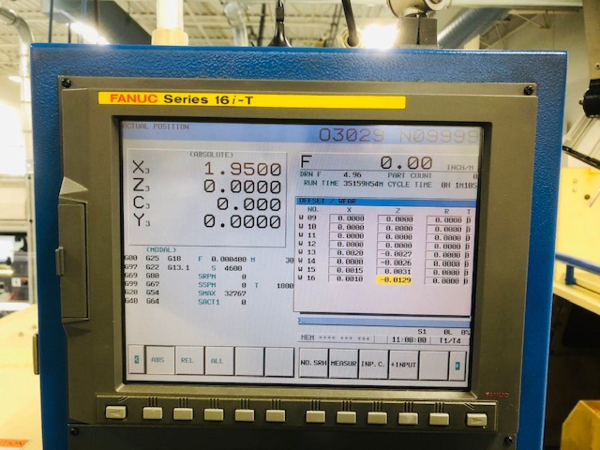 Lot 40 - 2007 TSUGAMI Swiss Type Automatic Screw Machine Model BW12-III CNC 7 Axis, Fanuc Ser. 16i-T Cont.