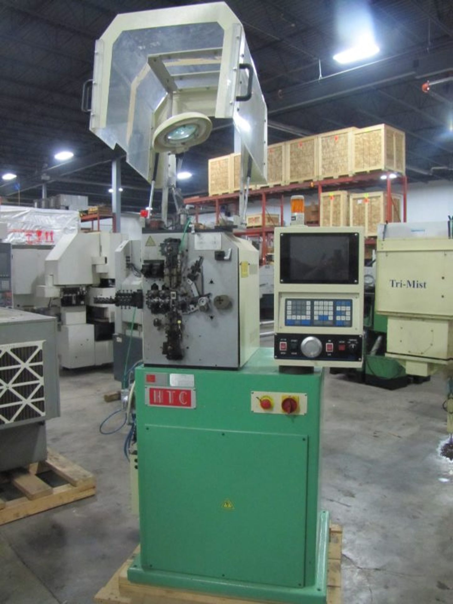 Lot 30 - 2007 HTC Model HTC 10CF-4Z2 CNC 4 Axis Spring Coiling Machine