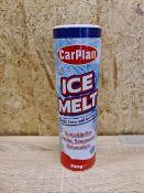PALLET OF 720 x CARPLAN ICE MELT. MELTS SNOW & ICE FAST. 750G TUBS