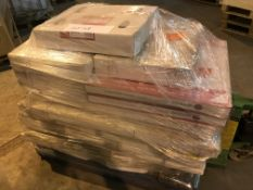 PALLET CONTAINING A QTY OF RADIATORS AND SHOWER TRAYS IN VARIOUS SIZES ( PLEASE NOTE PICK UP FOR