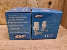 TRADE LOT OF 60 x NEW BOXED ELITE TRV THERMOSTATIC RADIATOR VALVE