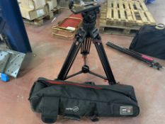 SACHTLER VIDEO 18 S2 TRIPOD WITH RUBBER FEET