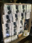98 X ASSORTED CAR ACCESSORIES IE TOMTOM CURFER, SATNAV CASES AND MOUNTS, 12V CHARGERS