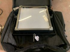 F&V K4000S BI-COLOR 60 LED PANEL LIGHT WITH LEADS AND CARRY CASE