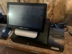 MICROS ORACLE RESTAURANT EPOS SYSTEM WITH TILL DRAWER, RECEIPT PRINTER