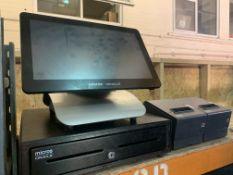 MICROS ORACLE RESTAURANT EPOS SYSTEM WITH TILL DRAWER, 2 X RECEIPT PRINTER