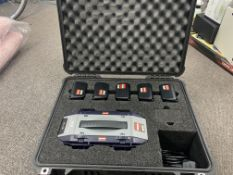 IDX VL-4S SIMULTANEOUS 4 CHANNEL QUICK CHARGER WITH 5 BATTERIES AND CARRY CASE