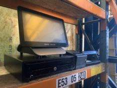 MICROS ORACLE RESTAURANT EPOS SYSTEM WITH TILL DRAWER, RECEIPT PRINTER, HELIX UV LIGHT