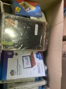 100 X ASSORTED PHONE CASES, IE APPLE, SAMSUNG CASES WITH SCREEN PROTECTORS
